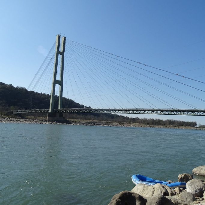 Chisapani bridge Karnali river West Nepal