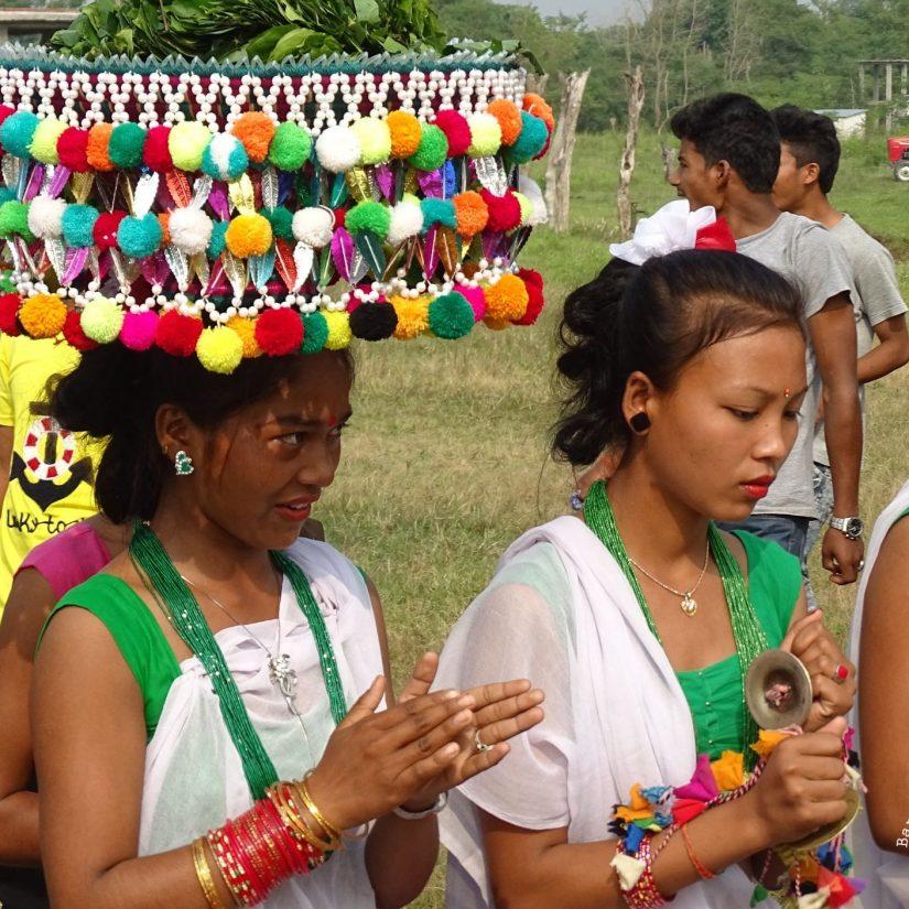 Tharu women Dashain Bardiya Nepal