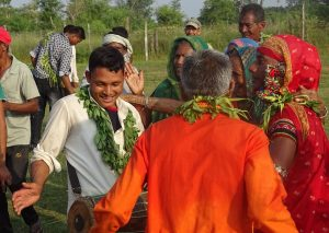 Tharu celebrating Dashain Bardia National Park