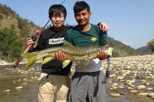 Golden Mahseer fishing Bardia National Park