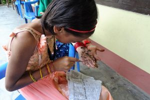 Preparations henna painting