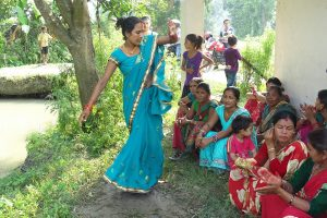 Shivapur woman dancing with passion