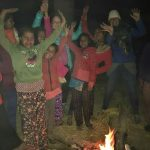 Dancing near the big fire