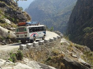 On the road in West Nepal